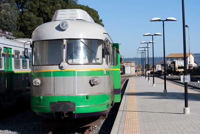 By train it is easy to directly transfer to Cagliari downtown.