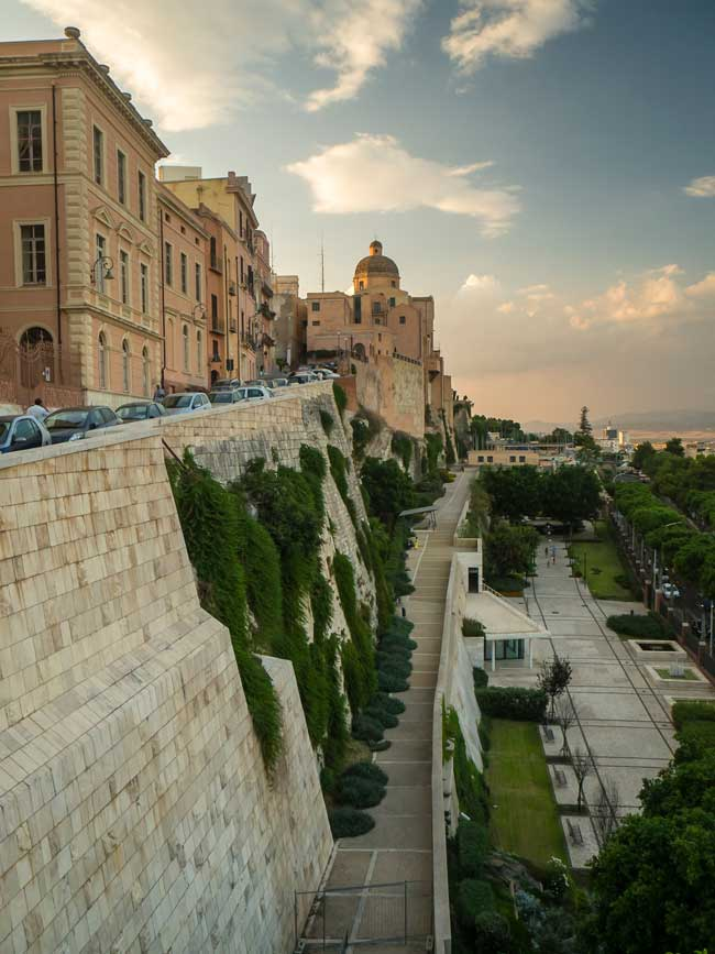 The city walls of Castello are one of the most well-conserved sights of Cagliari old town.