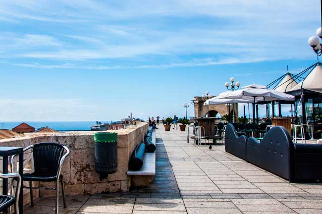 From the Terrazza Umberto I at the sea shore you'll get magnificent views of the Mediterranean Sea.